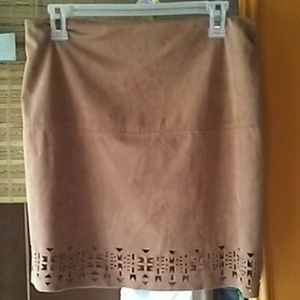 Forever 21 Faux Suede Tan  Skirt